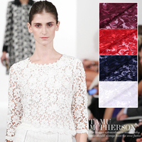 Custom 125cm wide 3D three dimensional gauze embroidery lace fabric embroidered gauze dress wedding fabric XY