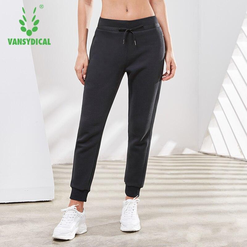 Women's Breathable Sweatpants Drawstring Fitness Running Trousers Loose Thin Cotton Slacks Female Sports Pants Vansydical 2019