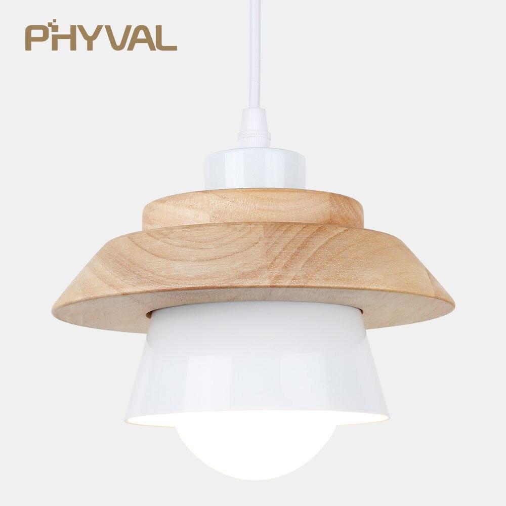купить Nordic UFO Pendant Light modern minimalist bedroom small iron wood bowl hall creative personality Macarons restaurant LED lamp онлайн