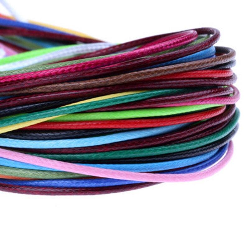 (10 M/pezzo) 1.5 Mm Di Diametro Filo Cerato Poliestere Cord String Strap All'ingrosso Collana Della Corda Del Branello Del Braccialetto Di Shamballa Fornitura