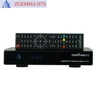 Tüketici Elektroniği'ten Uydu TV alıcısı'de 2 adet/grup Hızlı Hızlı CPU ZGEMMA H7S 2 * DVB S2X + DVB T2/C Multistream 4K Uydu Alıcısı IPTV set Üstü Kutusu