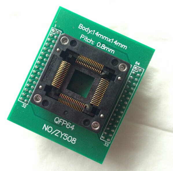 Free Shipping     Original Programmer Dedicated Special ZY508C TQFP64 ZLG X5/X8/5000U Burning Seat
