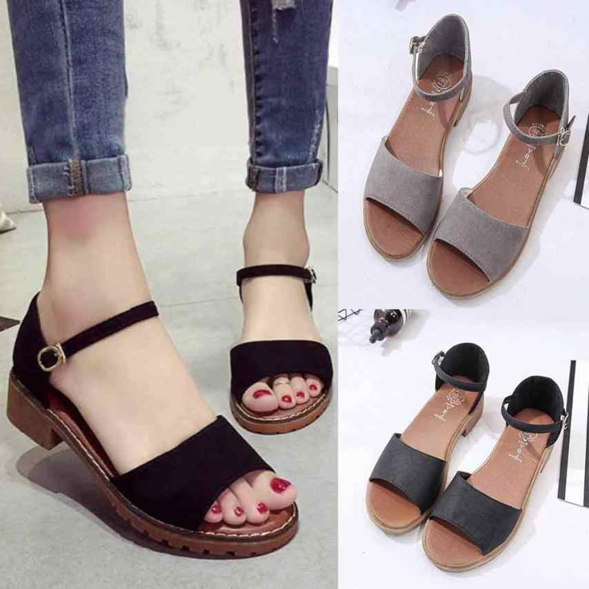 e4ae7a14dca ... YOUYEDIAN Summer Floral Sandals Fish Mouth Women Sandals Pu Suede Retro  High Heels Square Heel Woman ...
