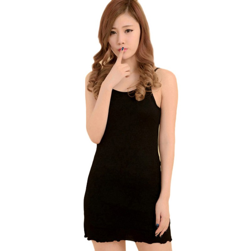 cef70f499e3 Women Long Cami With Shelf Bra Camisole Adjustable Spaghetti Strap tank top  one size-in Camis from Women s Clothing on Aliexpress.com