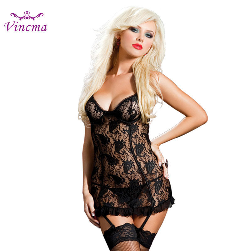 S M L XL XXL 3XL 4XL 5XL 6XL Erotic Underwear Women Plus Size Sexy Lingerie Hot Sex Babydolls Porno Costumes With 4 Pcs Garter
