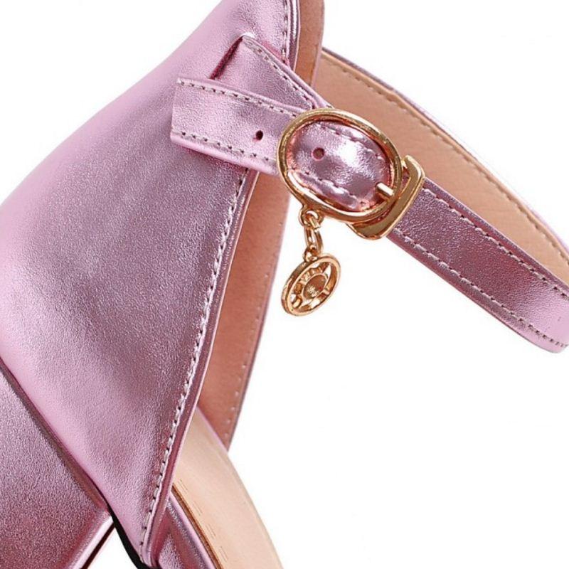 Tacones Femeninas rosado Señoras Moda Cremallera Sandalias De Sexy Remaches Taoffen plata Zapatos Club Tamaño Mujer Alto 33 Tacón Calzado 43 Oro qHtwZvS