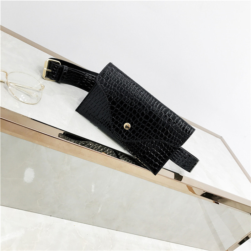 Women Waist Bag Fashion Pure Color Stone Pattern Leather Messenger Shoulder Chest Bag Sac Banane Femme Fanny Packs Bolsa Cintura