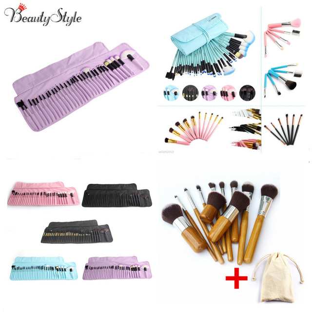 5  6  10  11  32pcs Makeup Brush Set Professional Soft Cosmetic Eyebrow  Shadow Powder Lipsticks Brushes Kit Gift + Pouch Bag 1f67ecd478e9d