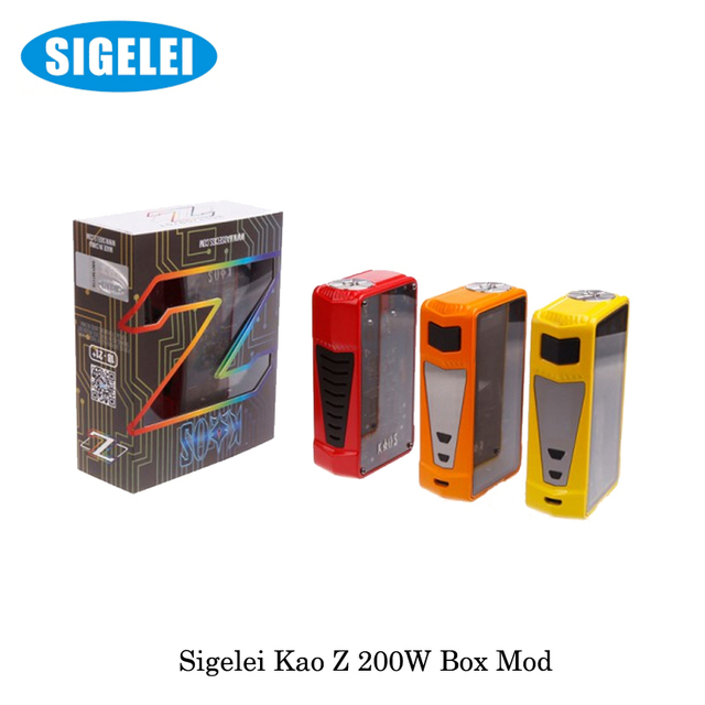b86fc415b4f87e 200W Sigelei Kaos Z TC Vape Box Mod Electronic Cigarette Powered by 18650  Battery not include