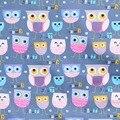 Syunss, большая чашка, принт совы, хлопок, ткань, сделай сам, Tissus, лоскутное tetas, шитье, детская игрушка, постельное белье, текстильное одеяло, тка...
