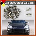 Автомобильный Интерьер Карта Купол Камера для Ног Courtesy Lights LED Пакет Комплект Лампы White 12 В Для Porsche Cayenne 955 2003-2006