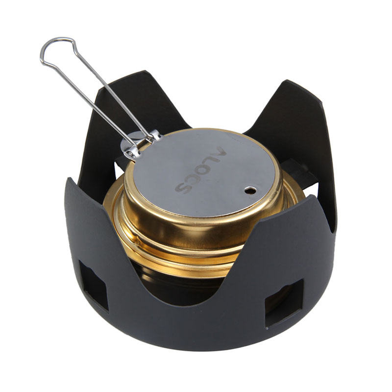 Outdoor Picnic Stove Mini Ultra-light Spirit Combustor Alcohol Stove Outdoor Camping Fur ...