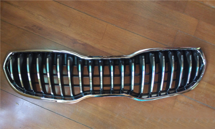 D'origine ABS grille de Calandre Chromée Autour de L'équilibre Racing Grills Trim Fit Pour Kia K3 2013