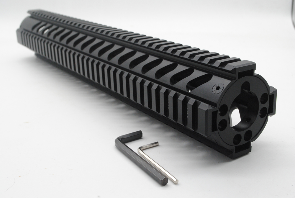 TriRock New 15'' Length Quad Rail Handguard Free Float Rail Mount Systwm Picatinny Rail M16 With Front End Cap Free Shipping paintball airsoft accessorie 15 m16 m4 ar 15 quad rail handguard free float hunting aeg rails mount 15 picatinny quad rail
