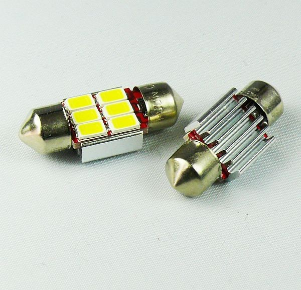 4Pcs C3W 31mm <font><b>SV8</b></font>,5 car bulbs 5630 SMD <font><b>LED</b></font> CAN BUS OBC ERROR FREE INTERIOR bulbs for HONDA