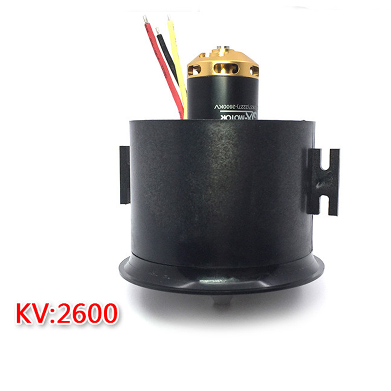 QX-MOTOR Brushless Motor 12 Blades EDF Ducted Fan 4S Motor QF2827 2600KV 70mm For Jet AirPlane F22137
