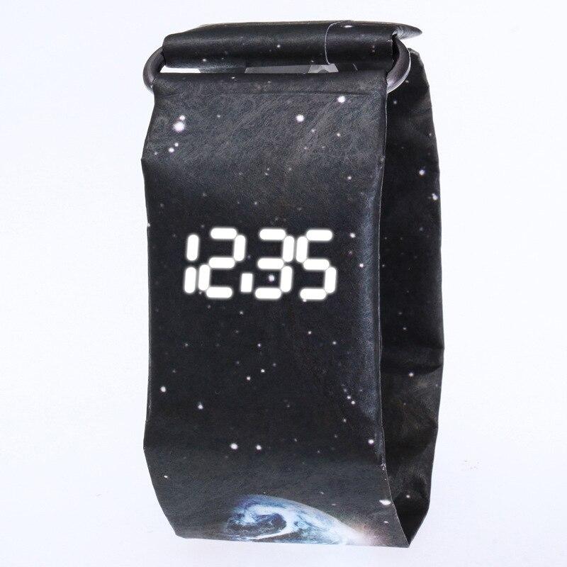 Uhren Energisch Mode Kreative Papier Digitale Uhr Männer Wasserdichte Uhren Für Männer Elektronische Uhr Uhr GefÜhrte Uhr Der Männer Reloj Hombre Saat