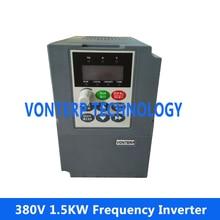 Vonterp 1.5KW 50 Гц 60 Гц переменной частоты vfd инвертор 380 В 3 фазы двигатель переменного тока скорости