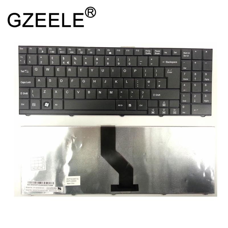 GZEELE nouveau pour MEDION AKOYA P6610 P6620 E6212 MD6640 clavier UK mise en page MP-09A96GB