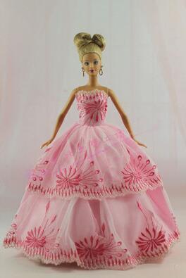 Genuine Original Dress Up Dolls Hearts Supermodel Case For Barbie Clothes Dresses Evening Clic