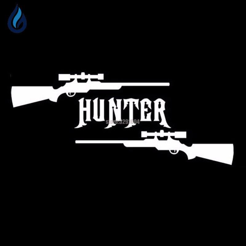 15*6.3cm Gun Hunter Hunting Deer Buck Rifle Car Stickers Vinyl Decal Car Styling For Hyundai Ix35 Vw Golf 4 Toyota Avensis Jeep