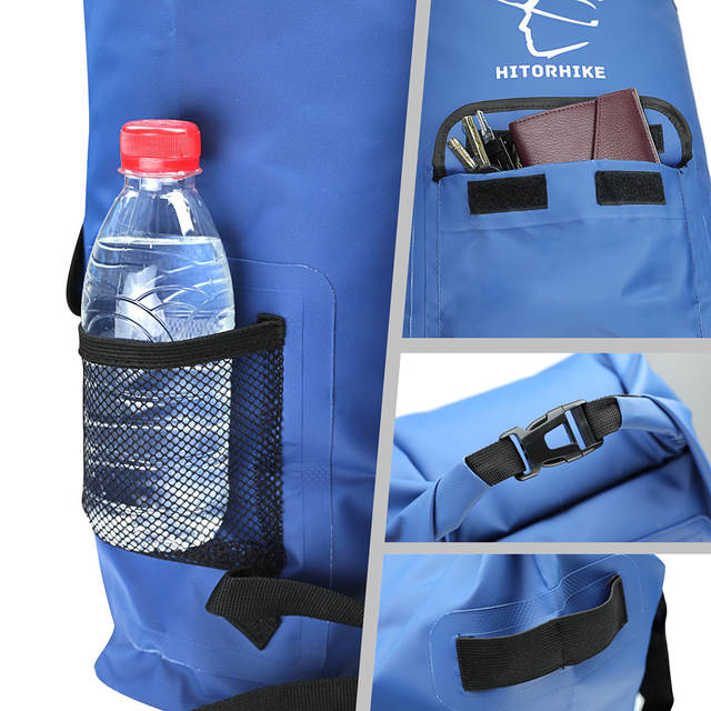 ae9119ecb53c placeholder 25L Outdoor River Trekking Bag Dry Bag Double Shoulder Straps  Water Pack Swimming Backpack Waterproof Bags