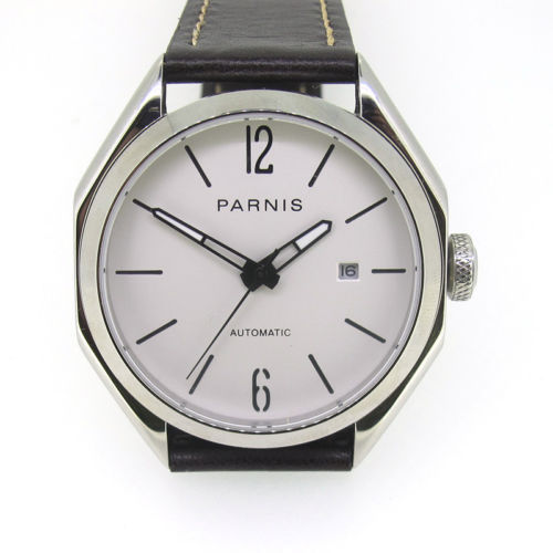 43mm Parnis Miyota Automatic Movement Men's Casual Watch Stainless Case Sapphire | Fotoflaco.net
