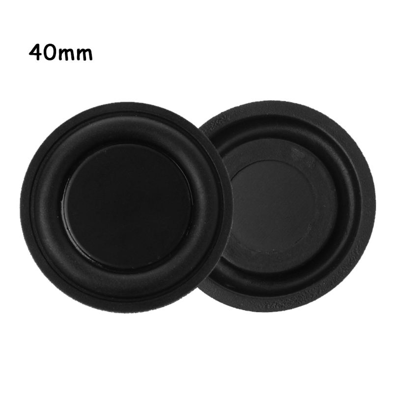 1 Pair 40mm Passive Radiator Subwoofer Speaker Vibration Membrane Bass Rubber Woofers