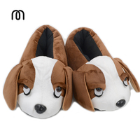 Millffy Lovely Winter Shoes Women Sneakers Couples Cartoon Plush English Cocker Spaniel Dog Puppy Home Slippers
