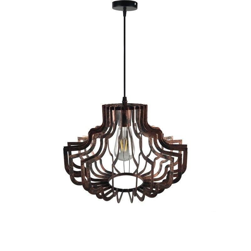 Européen rétro fer oiseau cage suspension lampe Vintage forgé E27 lanterne pendentif lumières pour Restaurant hôtel Villa thé couloir - 3