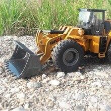 HUINA 583 2.4 グラム 1:14 RC 電気トラックリモートコントロールモデル掘削機エンジニアリング車両合金ブルドーザー子供のためのギフト