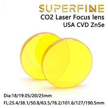 ABD CVD ZnSe CO2 Lazer odak lensi Dia.18 19.05 20mm FL 38.1 50.8 63.5 76.2 101.6 127mm