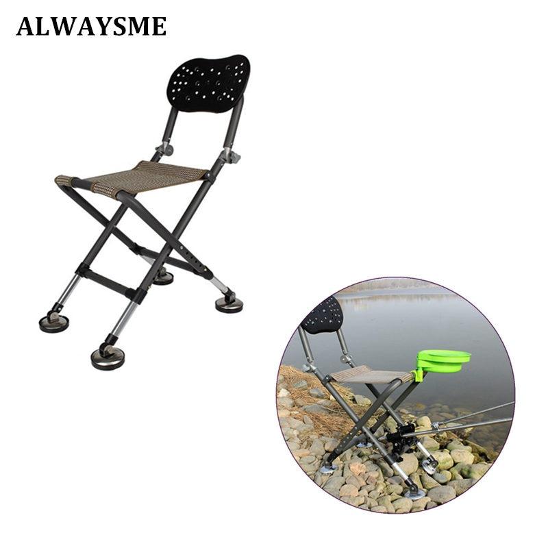 ALWAYSME Outdoor Fishing Folding Chair Stool Foldable Portable Outdoor Fishing Chair Stool
