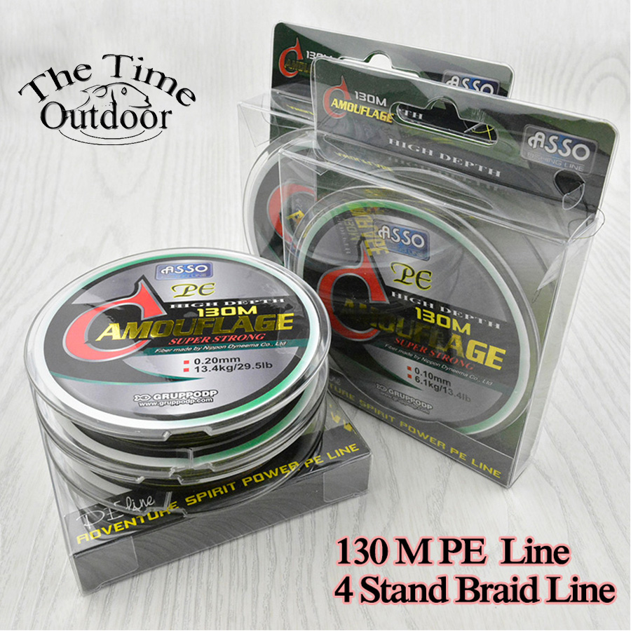 Asso 130m multifilament pe braided fishing line super for Strong fishing line