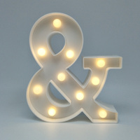 New 3D Plaque Plate LED Symbol Marquee Sign Alphabet Lamp Night Light Birthday Wedding Party Wall