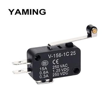 цена на Micro switch Limit Travel switches Silver contact Momentary Self-reset V-15 V-151 V-152 V-153 V-154 V-155 V-156-1C25