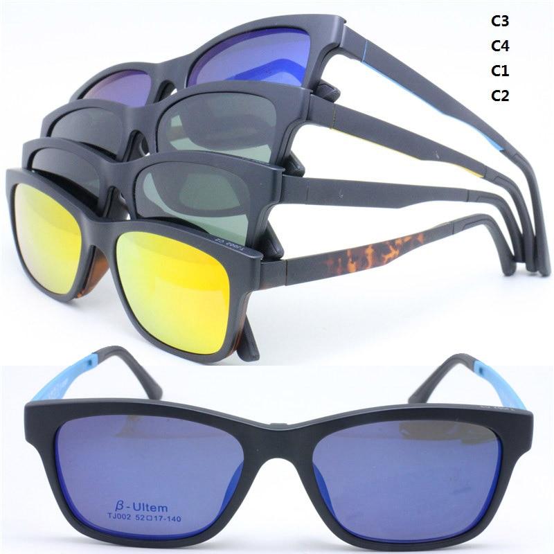 84d9e634ceba 002 ULTEM rectangle shape optical eyeglasses frame with megnatic ...