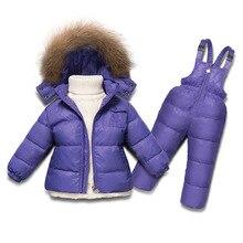 Moda 2017 jaqueta de inverno para as meninas casacos 2-6A Crianças roupas 5 cores crianças snowsuits meninos usam roupas de neve quente à prova d' água