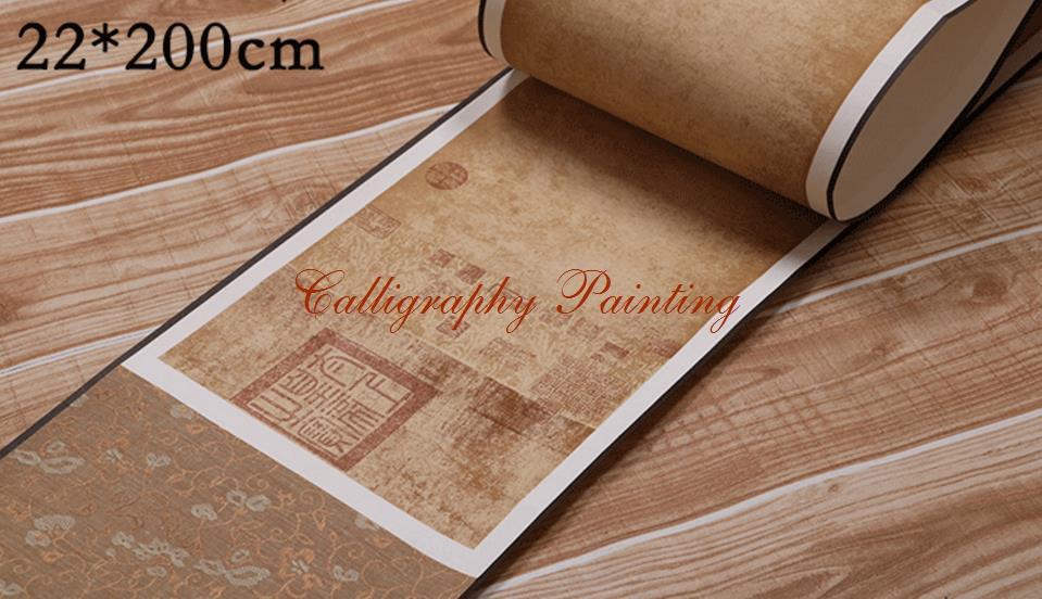 1pc Retro Color long Scroll blank Scroll Rice Xuan Paper Ink Brush Calligraphy