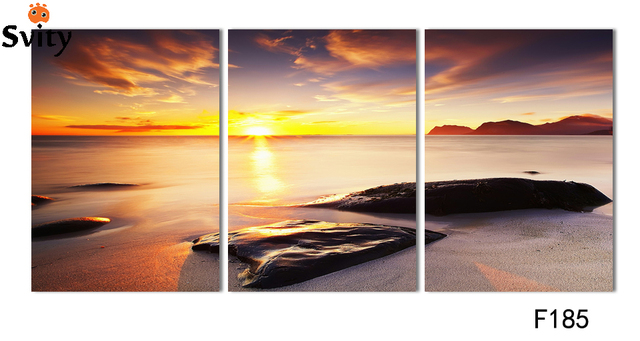 Set of three rectangular art canvas painting digital pictures wall ...