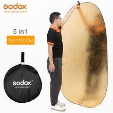 """Godox 59 """"* 79"""" 150*200 センチ 5 1 ポータブル写真リフレクターでボード折りたたみスタジオ写真リフレクター"""