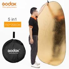 """Godox 59 """"* 79"""" 150*200 cm 5 in 1 taşınabilir fotoğrafçılık reflektör Kurulu Katlanabilir Stüdyo için fotoğrafçılık reflektör"""