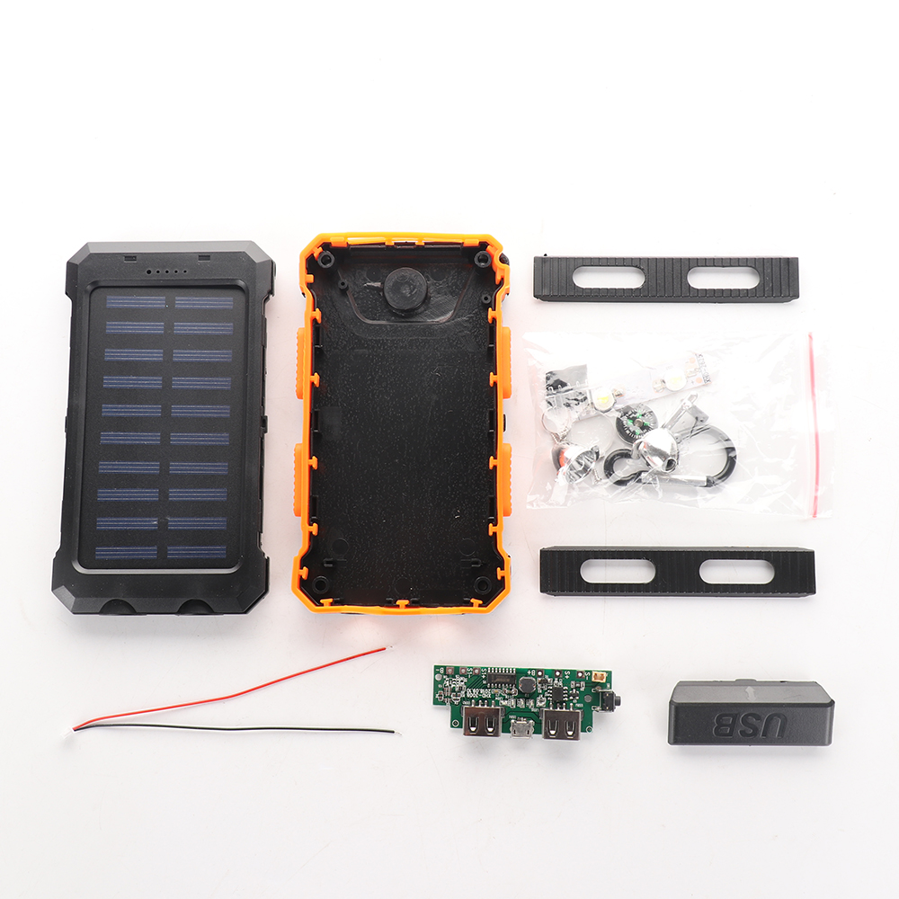 No Battery Diy Power Bank Case Battery Charger Kits Box Without Return Cellphones & Telecommunications Latest Collection Of New Waterproof 50000mah Solar Panel Led Dual Usb Ports