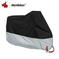 HEROBIKER Motorcycle Cover Outdoor Indoor Motorcycle Cruisers Street Sport Bikes Cover UV Protective Motorcycle Rain Cover