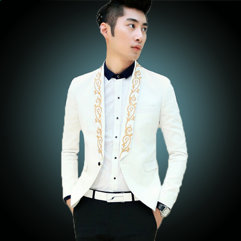 Aliexpress.com : Buy 2016 Gold Suit Jackets White Blazers Mens ...