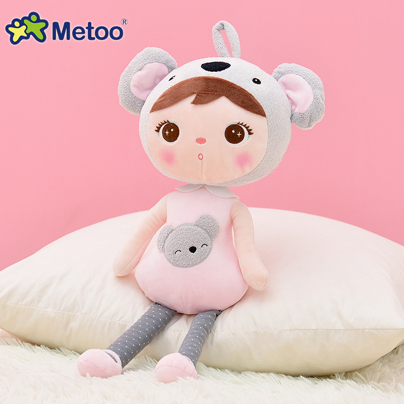 45cm Cute Girl Plush Sweet Cute Lovely Stuffed Baby Kids Toys for Girls Birthday Christmas Gift Keppel Baby Doll Metoo Doll 13 inch kawaii plush soft stuffed animals baby kids toys for girls children birthday christmas gift angela rabbit metoo doll