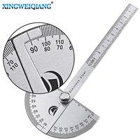 مسطرة رقمية من الفولاذ المقاوم للصدأ رأس مستدير 180 درجة منقلة أداة قياس مسطرة قياس دوارة