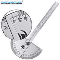 Digital Ruler Stainless Steel Round Head 180 degree Protractor Angle Finder Rotary Measuring Ruler Machinist Tool