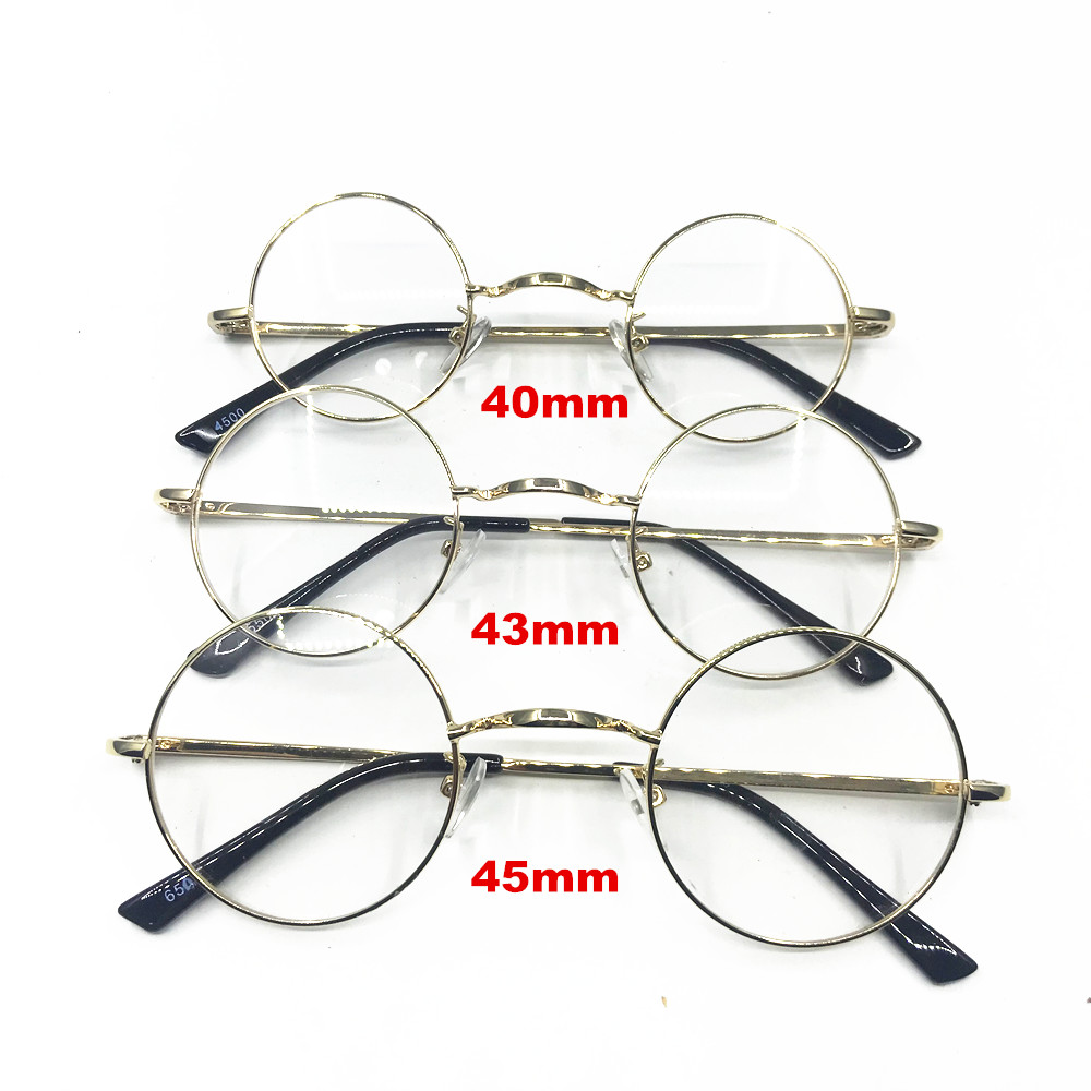 Vintage 40 43 45mm Small Round Spring Hinges Eyeglass Frames Full Rim Good Quality Rx Able