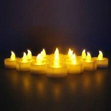 Мерцающий Светодиодный Беспламенного Свечи Чай Свет Свечи для Свадьбы День Рождения Рождество Безопасности Домашнего Украшения ночника